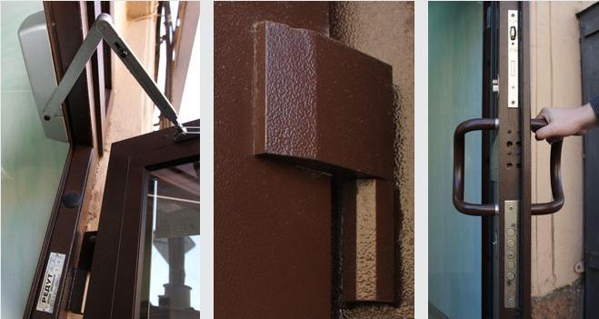 дверной блок из алюминиевого профиля с армированием пулестойкий
